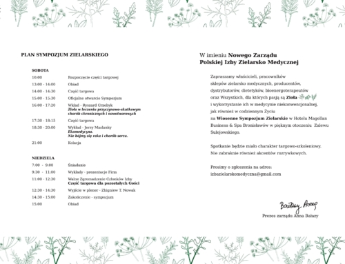 Uchylamy rąbka tajemnicy – sympozjum zielarskie 14-15 kwietnia
