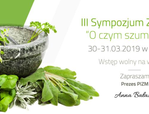 Zaproszenie na III Sympozjum Zielarskie w Zawierciu