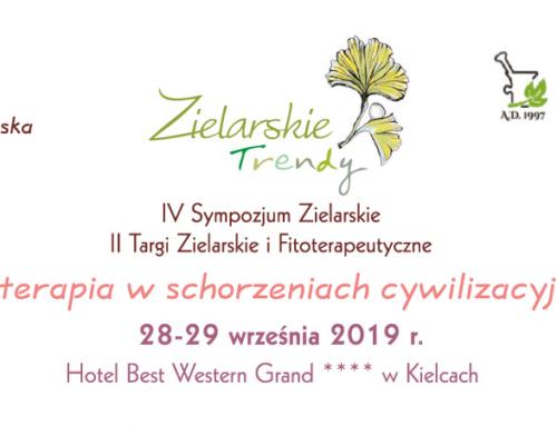 Zaproszenie na Sympozjum Zielarskie Trendy 28-29.09 Kielce
